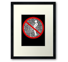 do not pee on the Dude's rug Framed Print