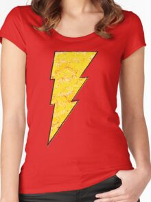 Shazam - DC Spray Paint Women's Fitted Scoop T-Shirt