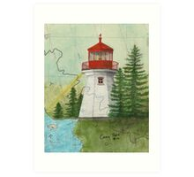 Otter Island Lighthouse Ontario Canada Nautical Chart Map Cathy Peek Art Print