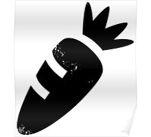 Cute Carrot (black) Poster