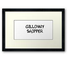 GILLOVNY SHIPPER Framed Print