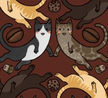 Coffee/Tea Cats Sticker