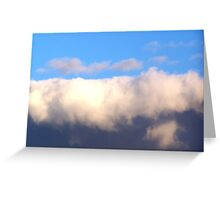 Blue Sky Over Dark Clouds Greeting Card