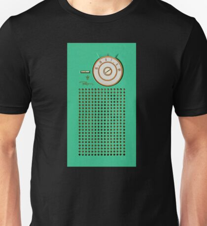 Retro geek Gumby green Transistor Radio design Unisex T-Shirt