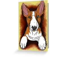 Tricolour English Bull Terrier  Greeting Card