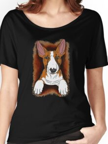 Tricolour English Bull Terrier  Women's Relaxed Fit T-Shirt