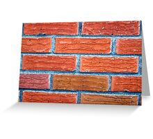 Bricks of a House Built in the 50's Greeting Card