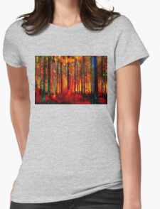 Forest Bright Womens Fitted T-Shirt