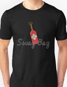 Swag Bag Hot Sauce on Black T-Shirt
