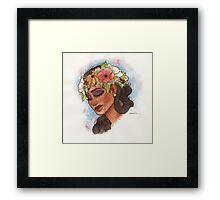 Flower Crown Framed Print