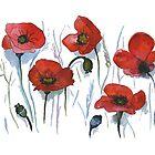 Red Poppies by rita-art