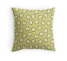 Kawaii Pixel Sunny Side Up Eggs Throw Pillow