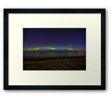 Aurora Borealis In Parksville BC Framed Print