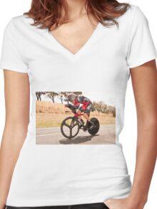 Rohan Dennis Women's Fitted V-Neck T-Shirt