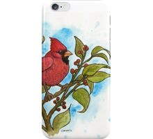 Northern Cardinal Watercolor iPhone Case/Skin