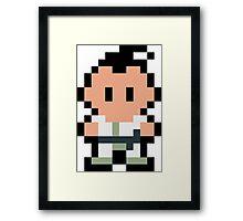 Pixel Poo Framed Print