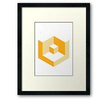 Block Yellow Framed Print