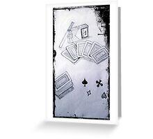 gaming table Greeting Card