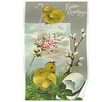 Easter Greetings - Vintage Poster