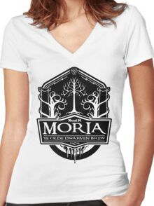 Mead Of Moria, Ye Olde Dwarven Brew Women's Fitted V-Neck T-Shirt