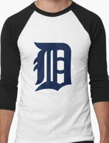 Detroit Tigers LOGO team Men's Baseball ¾ T-Shirt