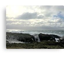 Stormy sea - Isle of Man Canvas Print