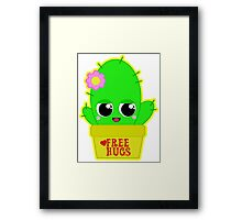 Kawaii Cactus  Framed Print