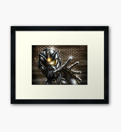 Future Soldier  Framed Print