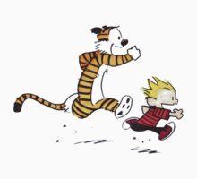 Calvin And Hobbes runner time Kids Tee
