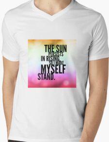 The Sun Persists Mens V-Neck T-Shirt