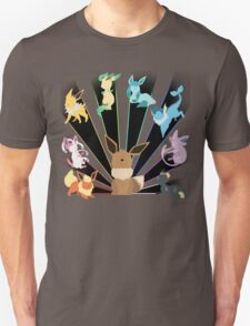PKM Eevee Evolution Rays T-Shirt