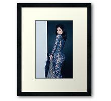 Kylie Jenner Spiral Framed Print