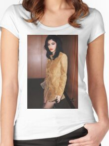 Kylie Jenner Mary Jo Women's Fitted Scoop T-Shirt
