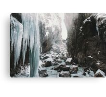 Cold and beautiful landscape landscape photography Canvas Print