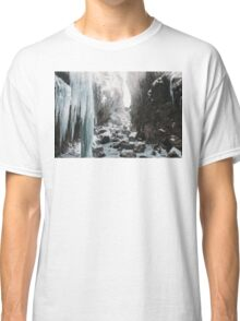 Cold and beautiful landscape landscape photography Classic T-Shirt