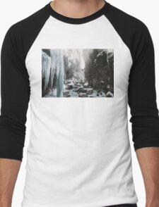 Cold and beautiful landscape landscape photography Men's Baseball ¾ T-Shirt