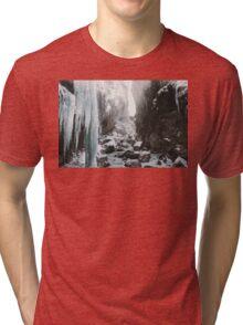 Cold and beautiful landscape landscape photography Tri-blend T-Shirt