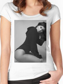 Kylie Jenner Sit 2 Women's Fitted Scoop T-Shirt