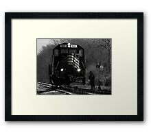 Time to work, it's too cold in the winter Framed Print