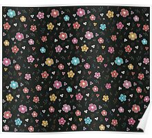 Colorful Floral Pattern Poster