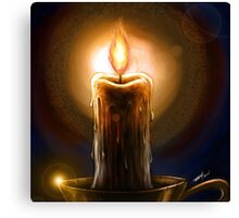 Candle Painting Canvas Print