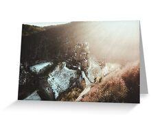 Eltz Castle at sunset Greeting Card
