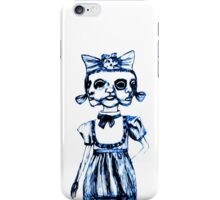 don't stare too long - blue ink drawing by minxi iPhone Case/Skin