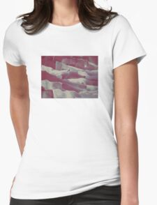 Paper Layers Magenta Womens Fitted T-Shirt