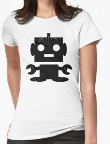 Cute Robot Womens Fitted T-Shirt