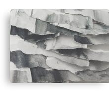 Paper Layers White Canvas Print