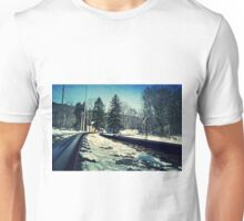 Snow Covered Tracks Unisex T-Shirt