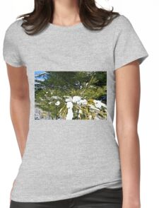 Snow Covered Pine Womens Fitted T-Shirt