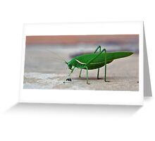 The Grass(hopper) is Greener Greeting Card