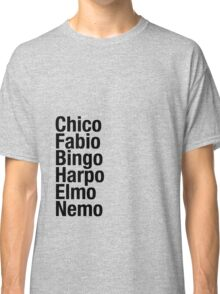Finding Nemo Names List Classic T-Shirt
